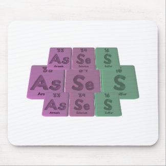 Asses-As-Se-S-Arsenic-Selenium-Sulfur Mousepads