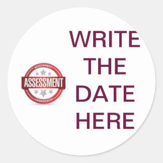 Assessment remainder Stickers