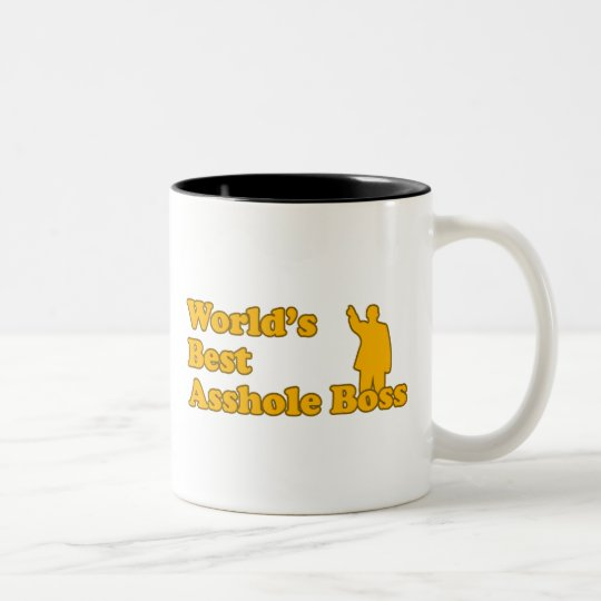 Asshole Best Boss Two-Tone Coffee Mug