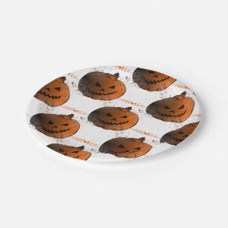 Assiette en papier Pattern Citrouille Paper Plate
