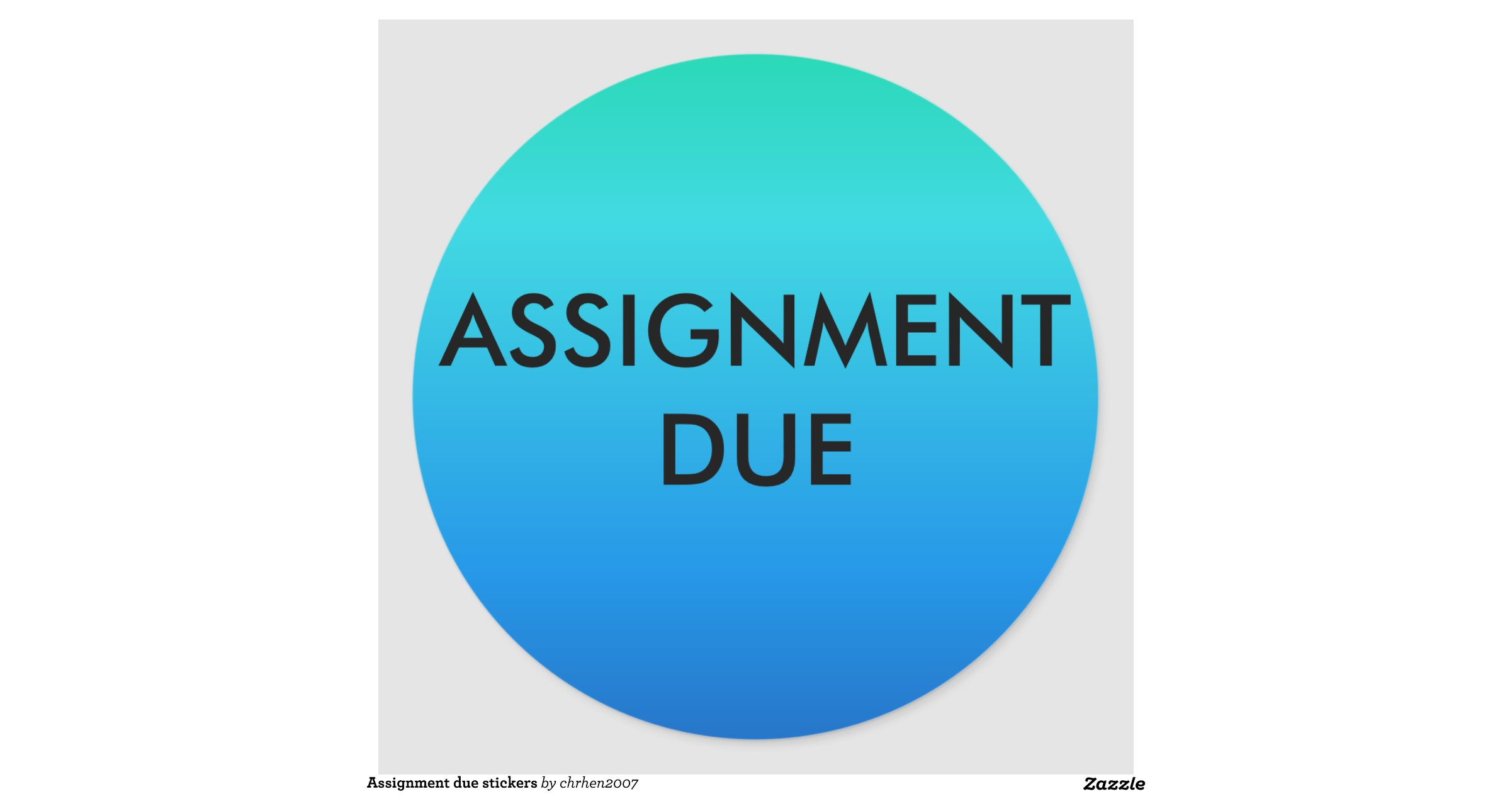 assignment due stickers