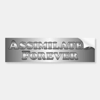 Assimilated Forever - Basic Car Bumper Sticker