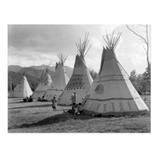 Assiniboine camp postcard