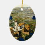 Assisi Adorno Navideño Ovalado De Cerámica