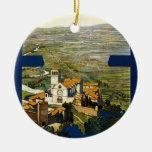 Assisi Adorno Navideño Redondo De Cerámica