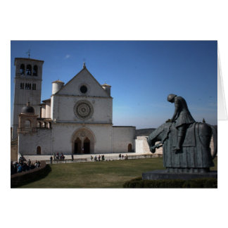 Assisi Cathedral (Italian: Cattedrale di Assisi Greeting Card