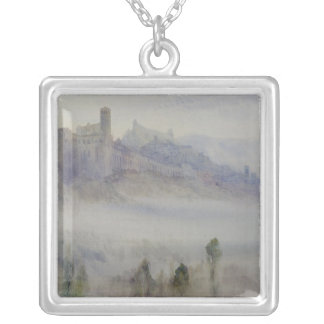 Assisi, Early Morning Silver Plated Necklace