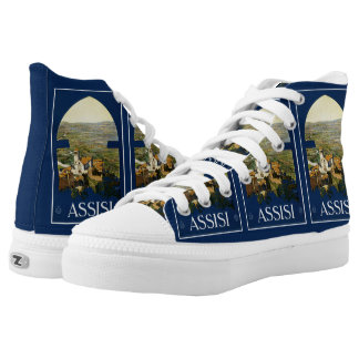 Assisi Italy Vintage Travel Poster shoes