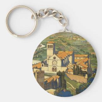 Assisi Basic Round Button Keychain