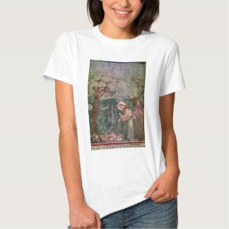 Assisi, retrato de St Francis y los pájaros Remera