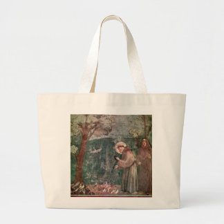 Assisi, St Francis and the birds Large Tote Bag
