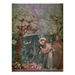 Assisi, St Francis and the birds Poster