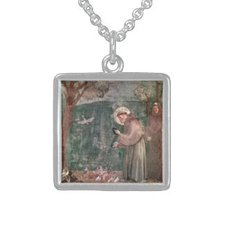 Assisi, St Francis and the birds Sterling Silver Necklace