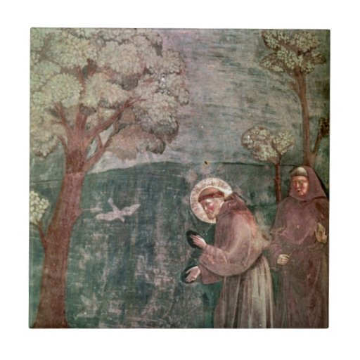 Assisi, St Francis and the birds Ceramic Tiles