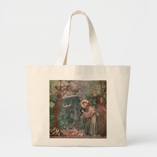 Assisi, St Francis y los pájaros Bolsa De Tela Grande