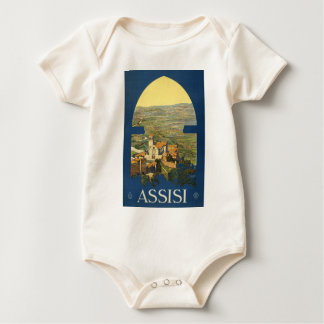 Assisi Travel Poster Baby Bodysuit
