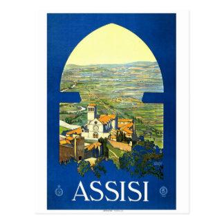"""Assisi"" Vintage Travel Poster Postcard"