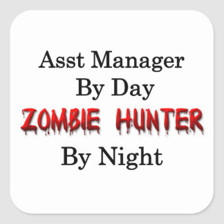 Assist Manager/Zombie Hunter Square Sticker