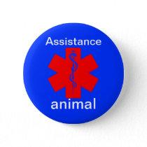 assistance animal medical alert symbol pin