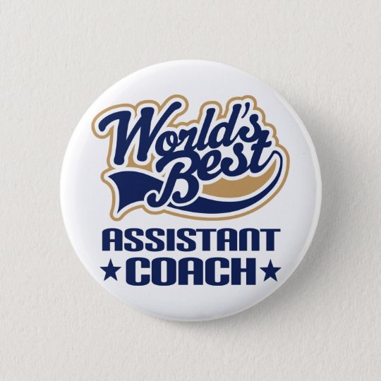 Assistant Coach Gift Pinback Button