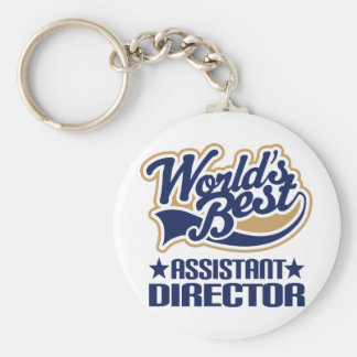 Assistant Director Gift Basic Round Button Keychain