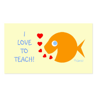 Assistant Elementary Teacher Goldfish Template Double-Sided Standard Business Cards (Pack Of 100)