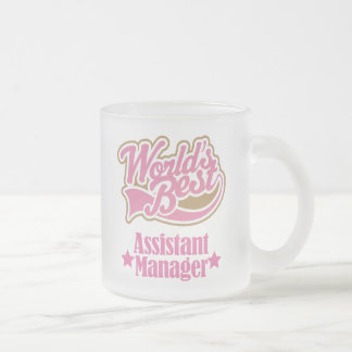 Assistant Manager Gift (Worlds Best) 10 Oz Frosted Glass Coffee Mug