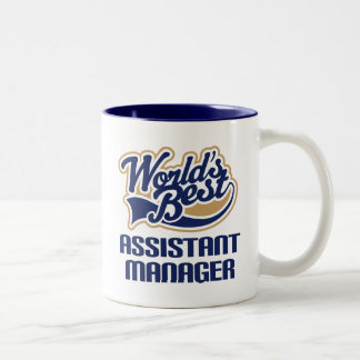 Assistant Manager Gift (Worlds Best) Two-Tone Coffee Mug