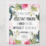 Assistant Principal Appreciation Secretary Thank Card