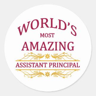 Assistant Principal Classic Round Sticker