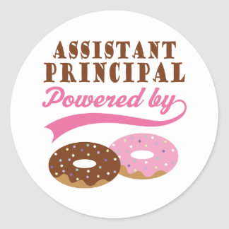 Assistant Principal Gift (Donuts) Round Sticker