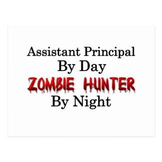 Assistant Principal/Zombie Hunter Postcard