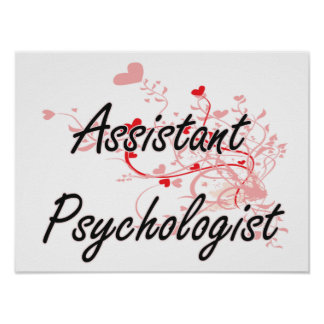 Assistant Psychologist Artistic Job Design with He Poster