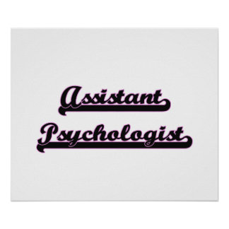 Assistant Psychologist Classic Job Design Poster