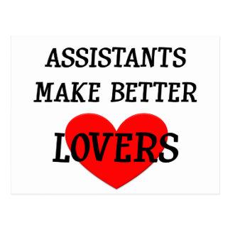 Assistants Make Better Lovers Postcard