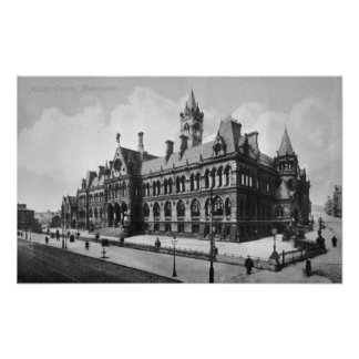 Assize Courts, Manchester, c.1910 Poster
