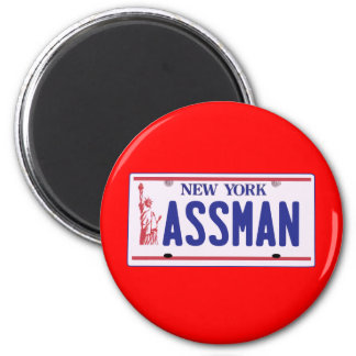 Assman New York License Plate Products 2 Inch Round Magnet