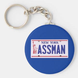 Assman New York License Plate Products Basic Round Button Keychain