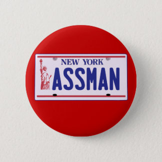 Assman New York License Plate Products Button