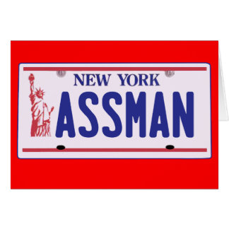 Assman New York License Plate Products Card