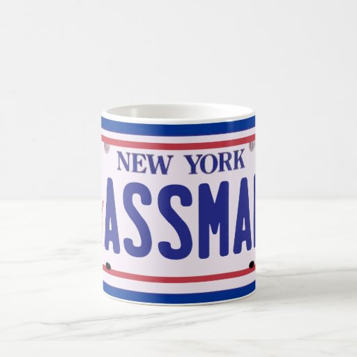 Assman New York License Plate Products Mugs