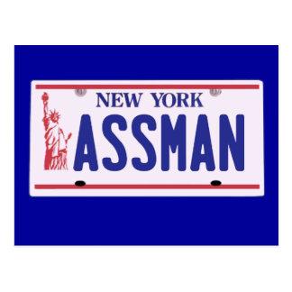 Assman New York License Plate Products Postcard