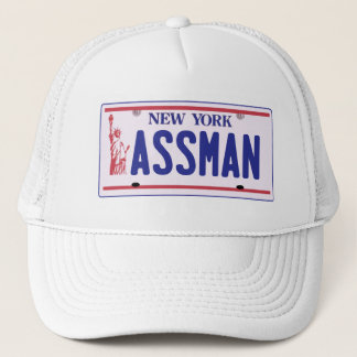 Assman New York License Plate Products Trucker Hat