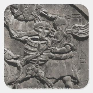 Assoc. de los estudios de la lápida mortuaria pegatina cuadrada