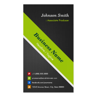 Associate Producer - Premium Black and Green Double-Sided Standard Business Cards (Pack Of 100)