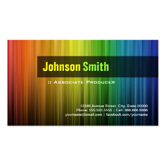 Associate Producer - Stylish Rainbow Colors Double-Sided Standard Business Cards (Pack Of 100)