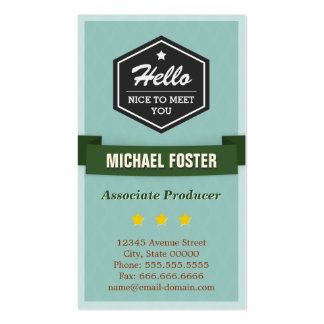 Associate Producer - Vintage Style Hello Double-Sided Standard Business Cards (Pack Of 100)