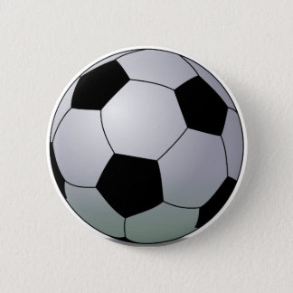 Association Football American Soccer Ball Button
