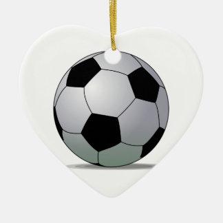 Association Football American Soccer Ball Ceramic Ornament