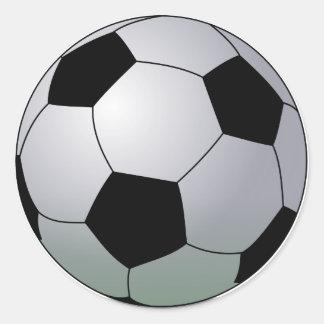 Association Football American Soccer Ball Classic Round Sticker